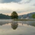 호수의 아침..